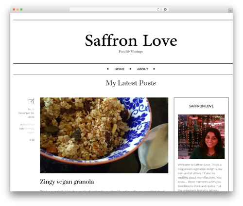 WordPress template Mokka - saffronlove.com