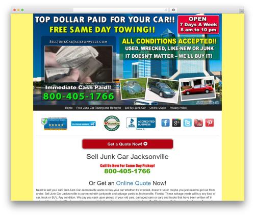 WordPress theme Kelly Car Buyer 1.0 - selljunkcarjacksonville.com