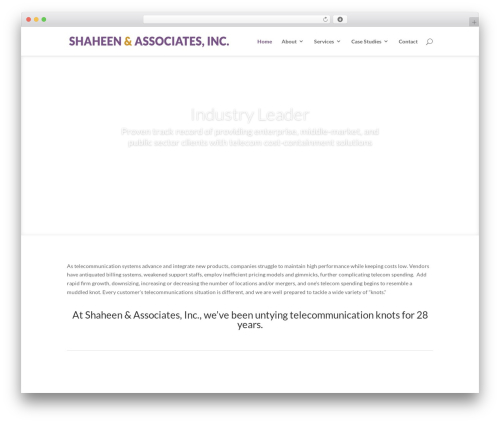 Divi business WordPress theme - shaheenandassociates.com