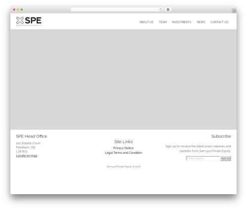 Kora WP WordPress theme - serruyaprivateequity.com