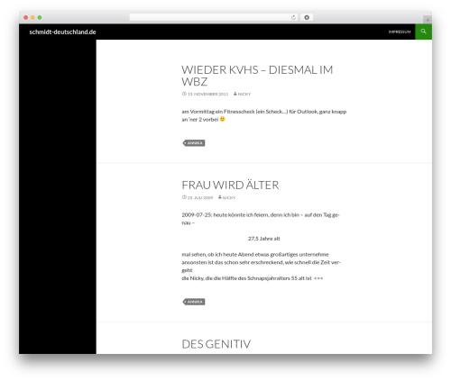Twenty Fourteen template WordPress - schmidt-deutschland.de