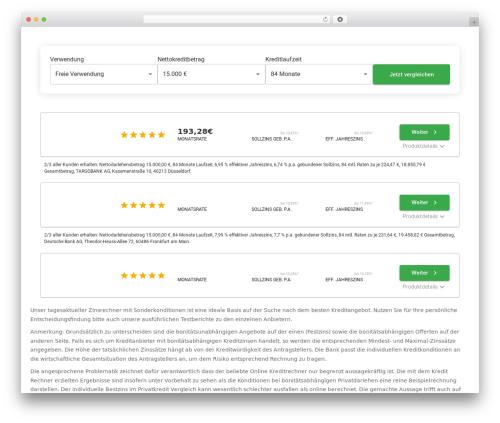 Artificial Reason WordPress theme - sofort-kreditvergleich.de