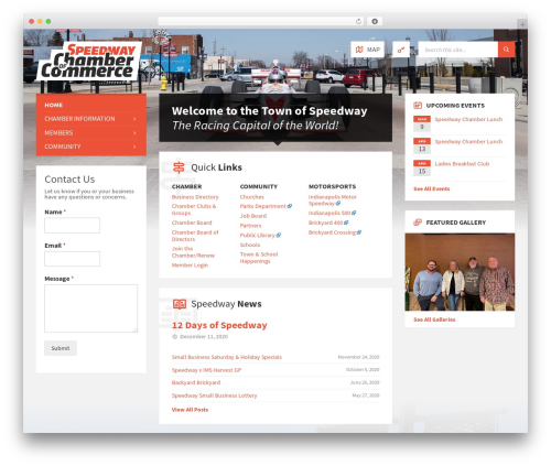 TownPress WP template - speedwaychamber.com