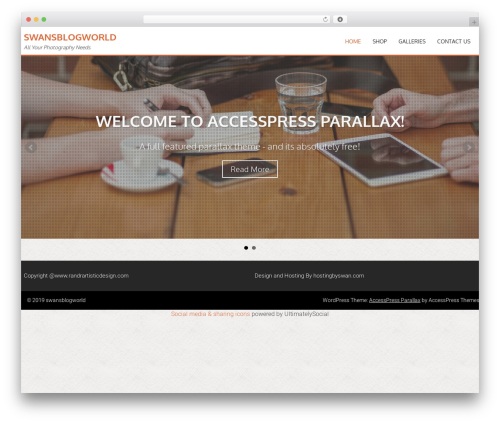 AccessPress Parallax template WordPress free - swansblogworld.com/wp
