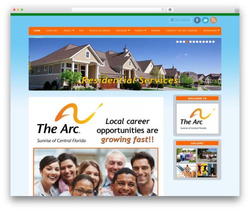 D5 Socialia best free WordPress theme - sunrisearc.org