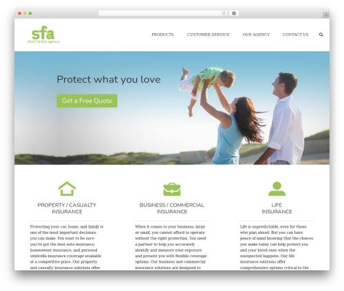 jupiter WordPress theme - shortfamilyagency.com