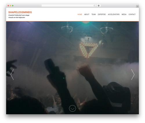 Template WordPress AccessPress Parallax - shapelessminds.com