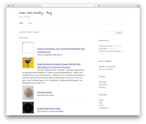 Twenty Twelve WordPress free download - solargeticdesigns.com