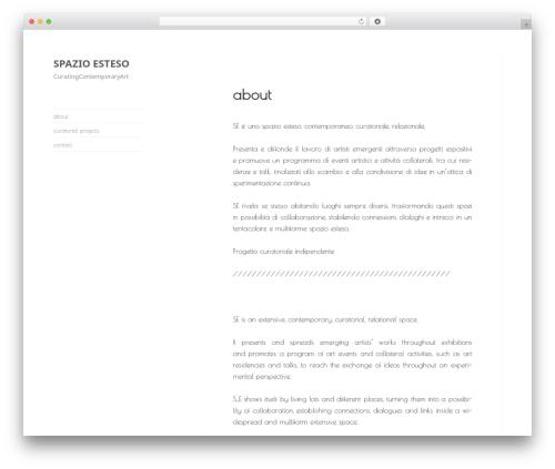 WordPress theme Progeny MMXV - spazioesteso.org