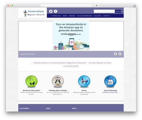 Yasmin best WordPress template - somershambaptist.org