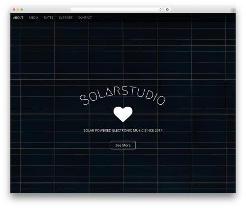 Arcade Basic WordPress website template - solarstudio.ch