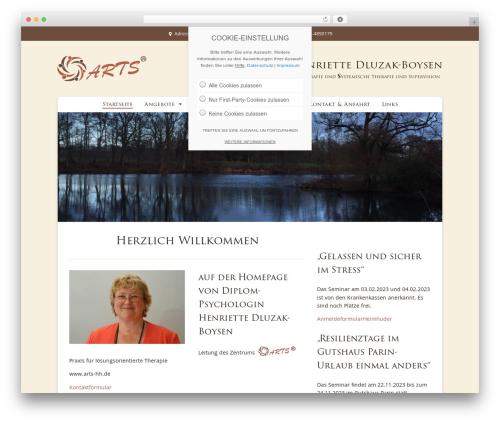 ARTS WordPress template - sichlebendigfuehlen.de