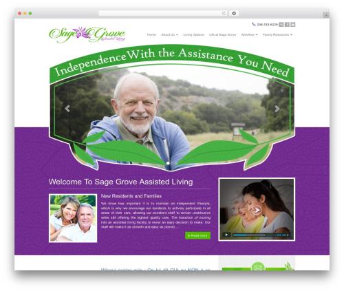 Best WordPress template Sage - sagegroveliving.com