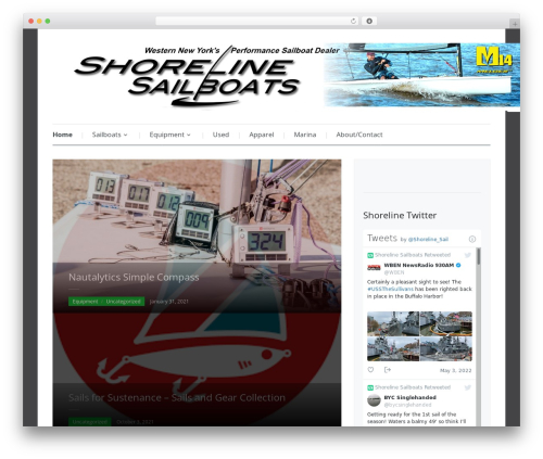 Best WordPress theme Prologue - shorelinesailboats.com