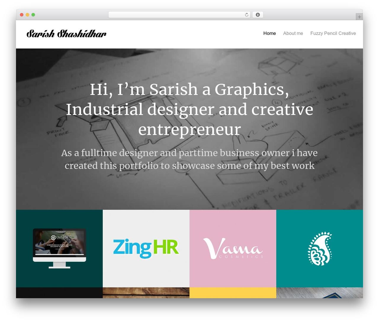 Oren WordPress page template - sarish-shashidhar.com