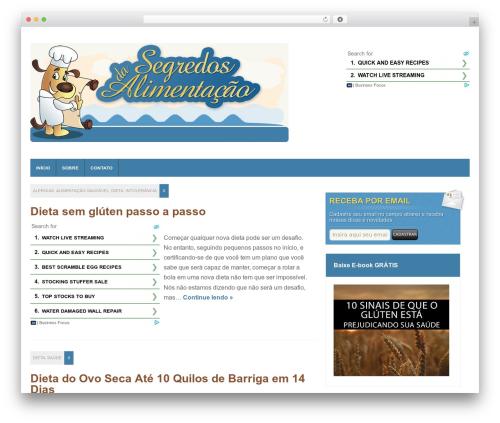 WordPress theme Magnovus - segredosdaalimentacao.com.br