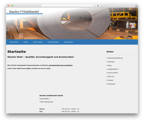 WordPress theme SKT White - staufenstahl.de