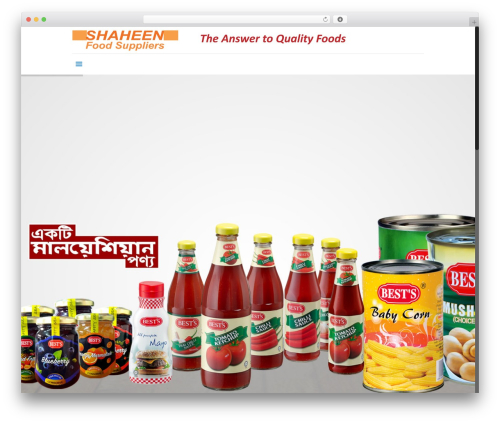 Betheme business WordPress theme - shaheenfood.com.bd