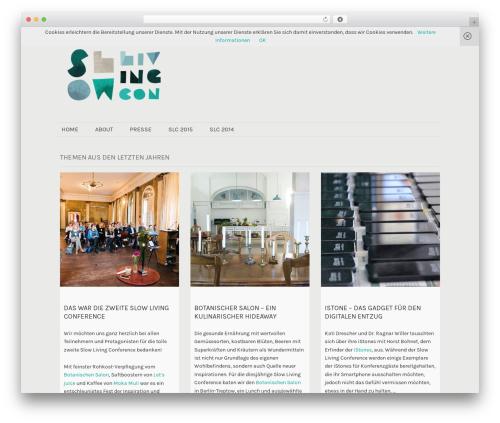 Heap WordPress theme - slowliving-conference.de
