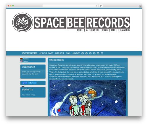Soundcheck premium WordPress theme - space-bee-records.de