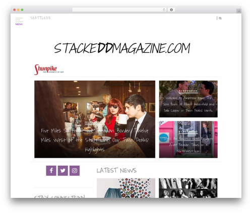 Theme WordPress Hickory - stackeddmagazine.com