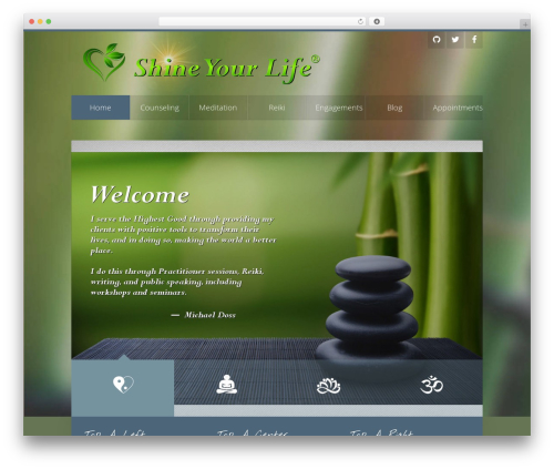 Unity best WordPress theme - shineyourlife.org