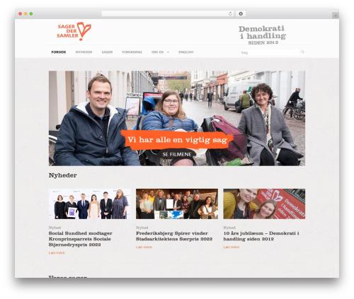 WordPress theme Neo - sagerdersamler.dk
