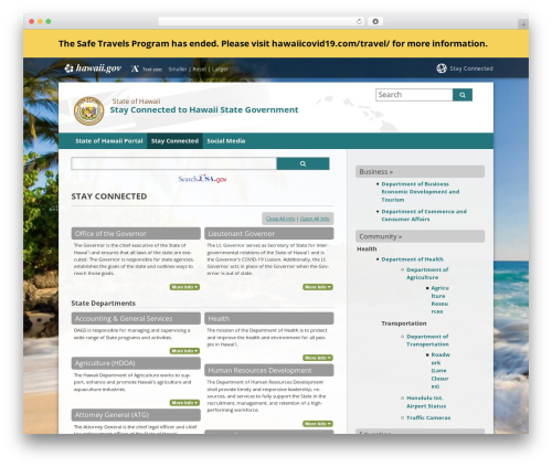 WP template State child Template - stayconnected.hawaii.gov