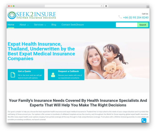 cherry medical WordPress theme - seek2insure.com