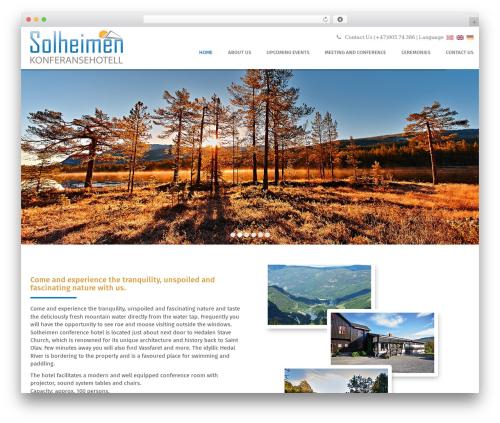 edsbootstrap best free WordPress theme - solheimenhotell.no