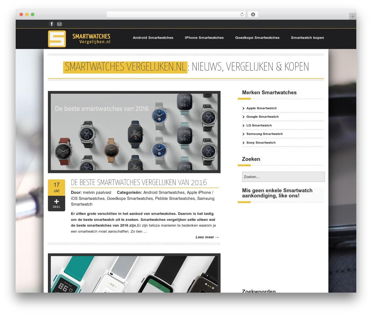 Emporium best WordPress theme - smartwatchesvergelijken.nl