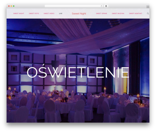 Lucille template WordPress - sweetnight.pl