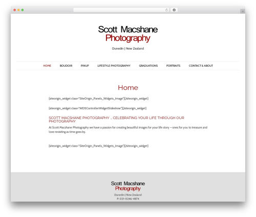 Pho WordPress photo theme - scottmacphoto.co.nz