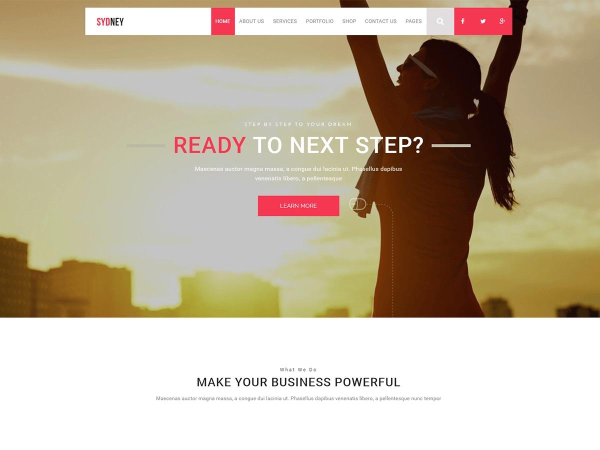 Sydneo business WordPress theme