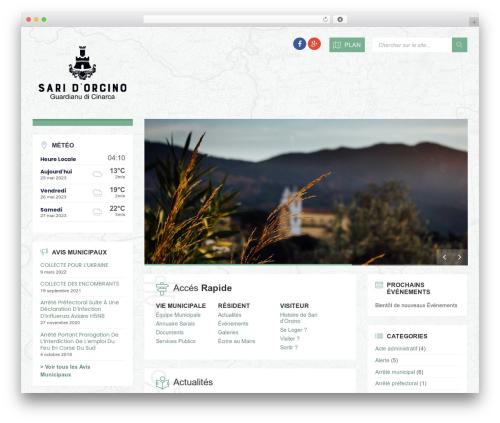 TownPress premium WordPress theme - saridorcino.fr