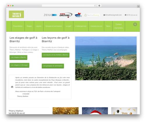 Aaika WordPress theme - stage-golfthmathon.com