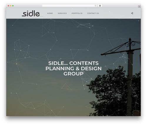 Best WordPress theme SceneOne - sidle.net