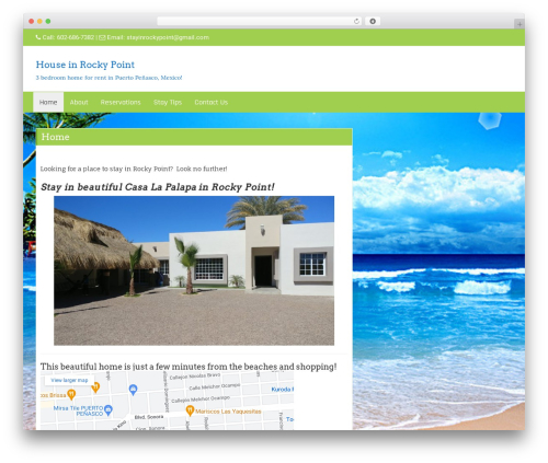 Di Business WordPress theme design - stayinrockypoint.com