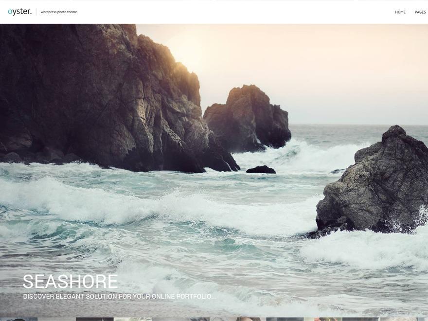 Oyster photography WordPress theme