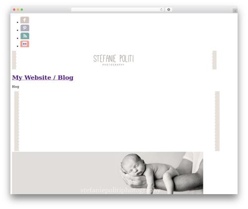 ProPhoto WordPress theme design - stefaniepolitiphotography.com