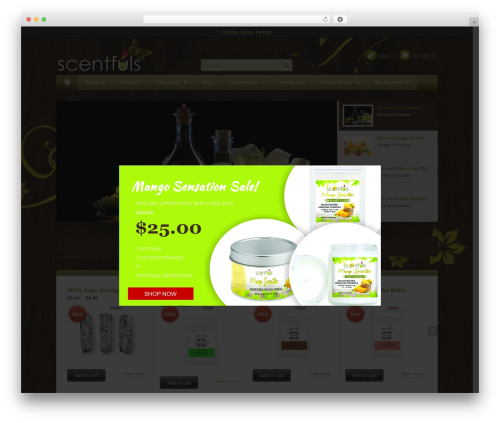 WordPress website template Bellissima - scentfuls.com