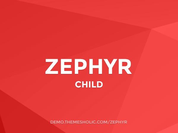 Zephyr Theme Child best portfolio WordPress theme