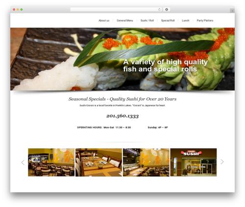 Lounge best restaurant WordPress theme - sushicocoro.com