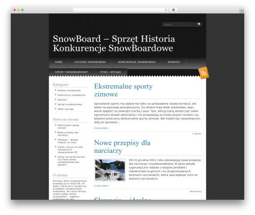 Snowblind theme WordPress free - snow-style.pl