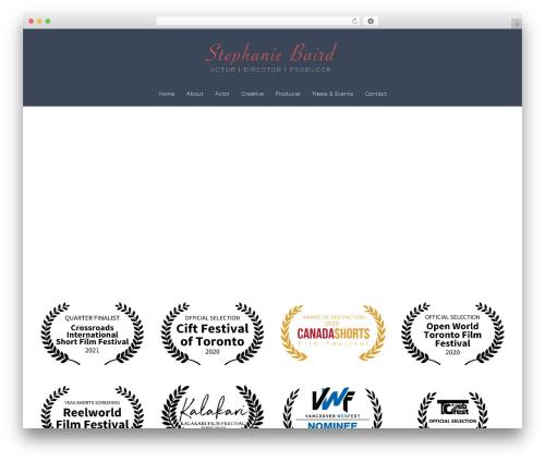 Sydney free WP theme - stephaniebaird.com
