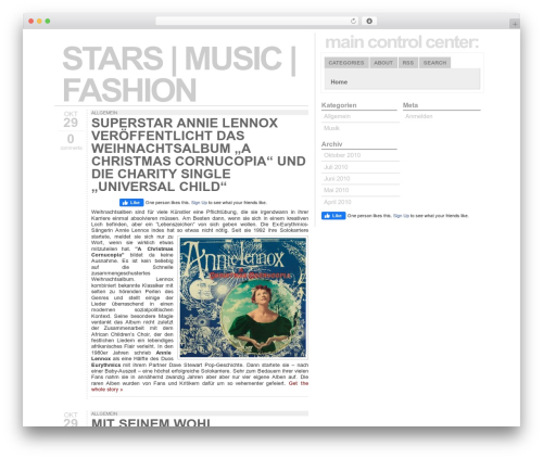Typograph WordPress website template - stars-music-fashion.de