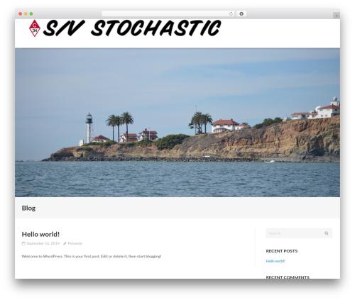 Ultra Child WordPress blog theme - svstochastic.com