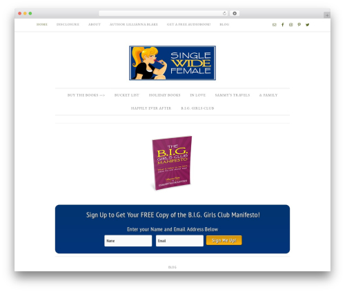 WordPress template Divine Theme - singlewidefemale.com
