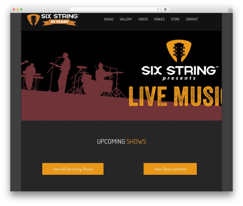 WordPress theme NOO Wemusic - sixstringpresents.com