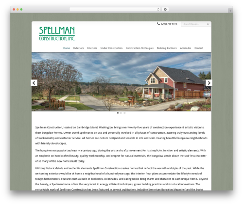 Chameleon WordPress theme - spellmanconstruction.com